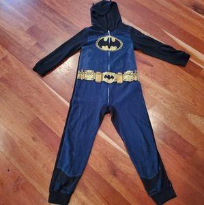 Boys Batman Half Zip Hooded Pajama